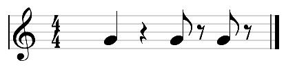 los silencios musicales segundo ejemplo