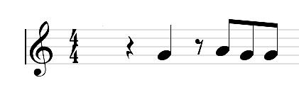 tercer ejemplo los silencios musicales